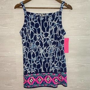 LILLY PULITZER Lucky Bamboo High Tide Adley Tank